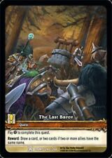 WOW Warcraft Drums of War the Last Barov promo card mint !