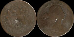 1802-Large-Cent-Draped-Bust-Old-US-Type-Coin-Copper-1800-039-s-Penny