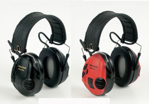 3M Peltor SportTac Rosso /& Nero protezione attiva per la ripresa di MT16H210F-478-RD