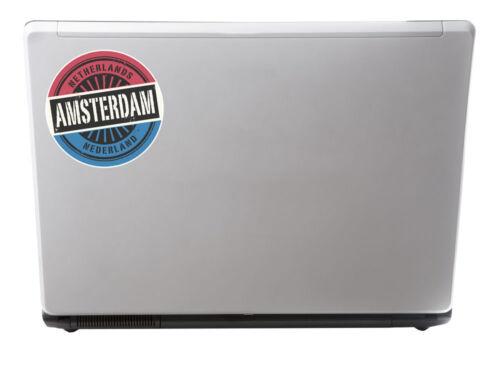 2 x 10cm Amsterdam Netherlands Sticker Car Bike Laptop Travel Luggage Tag #6724