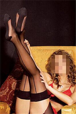 2016 New Sexy Lady Thigh High Socks Women's Leggings Black Cuban Heel Stocking