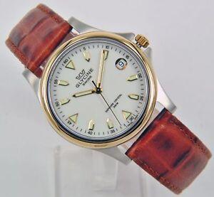 Glycine-Reloj-de-Hombre-Cuarzo-Analogo-Acero-Inoxidable-Bicolor-Pulsera-Cuero