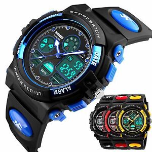 SKMEI-Waterproof-Child-Boy-039-s-Sport-Stopwatch-LED-Digital-Date-Kids-Wrist-Watch