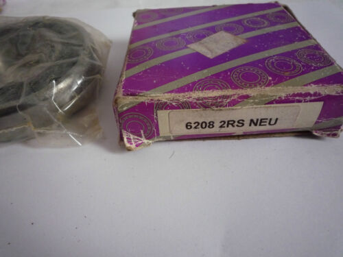 old stock Neu portant 6208 2rs 40x80x18mm new
