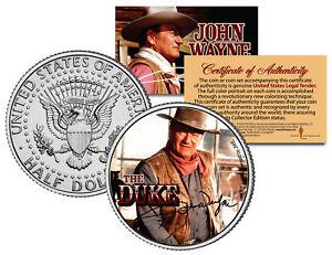 JOHN-WAYNE-THE-DUKE-Chisum-GENUINE-JFK-Half-Dollar-U-S-Coin-Licensed