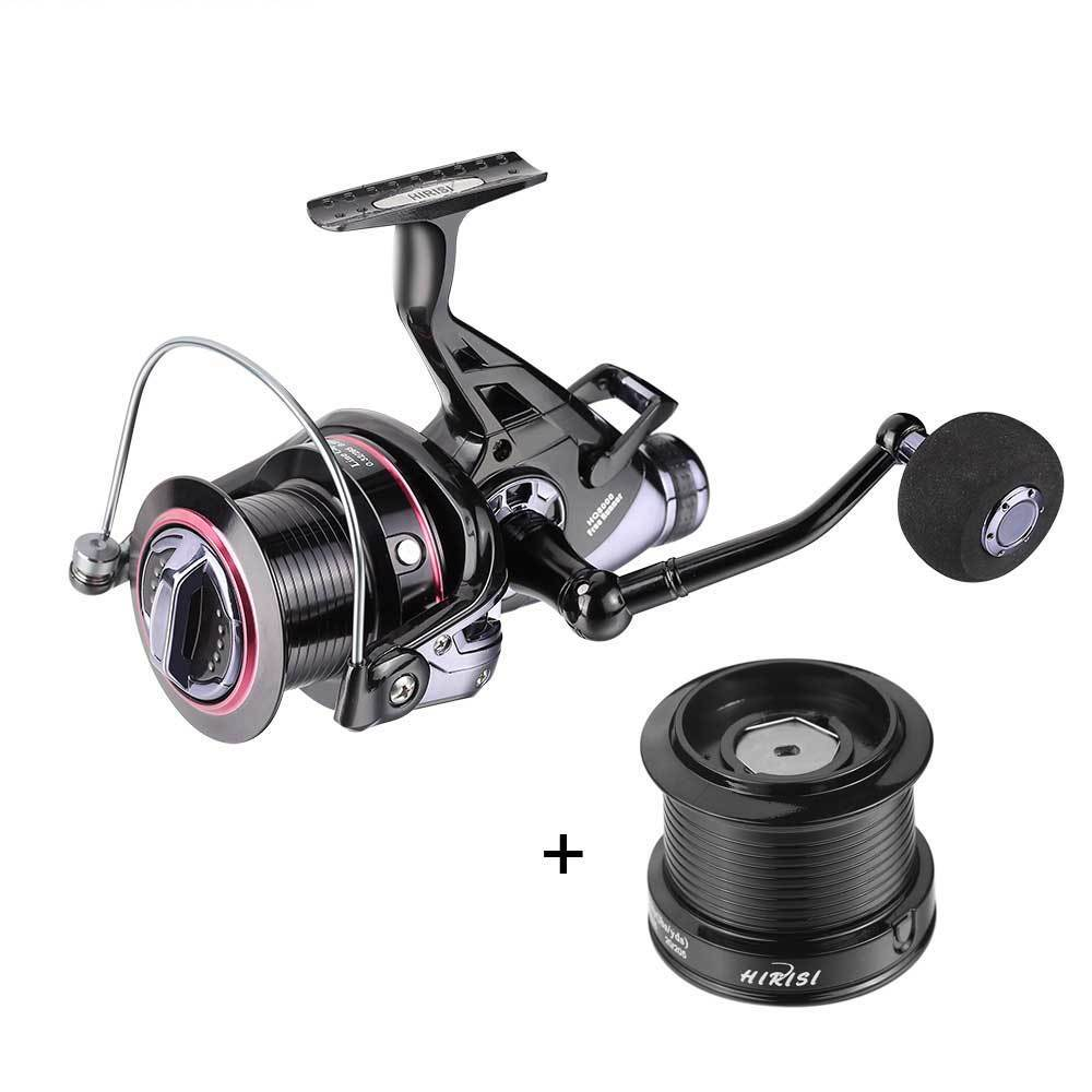 Carp Fishing Reels Bait Runner Double Brake Feeder Bearing Spinning Fishing Reel