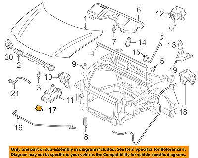 GM OEM Hood-Support Rod Holder 94580619
