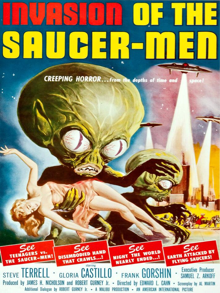 5988 Invasion of the saucer-men Horror POSTER. Interior design. Decoration Art