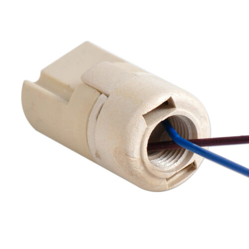 2x G9 Socket Ceramic Holder Base Wire Connector fit G9 Halogen Lamp Bulb 2A 250V