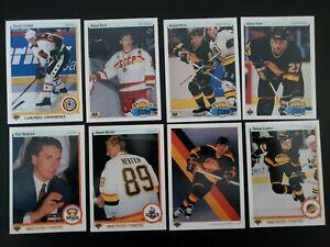 1990-91-Upper-Deck-UD-Vancouver-Canucks-Team-Set-of-23-Hockey-Cards-Bure-Kron-RC