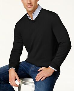 Details about Nwt $190 Club Room Men Black Crew Neck Quilted Sweatshirt Long Sleeve Sweater Xl
