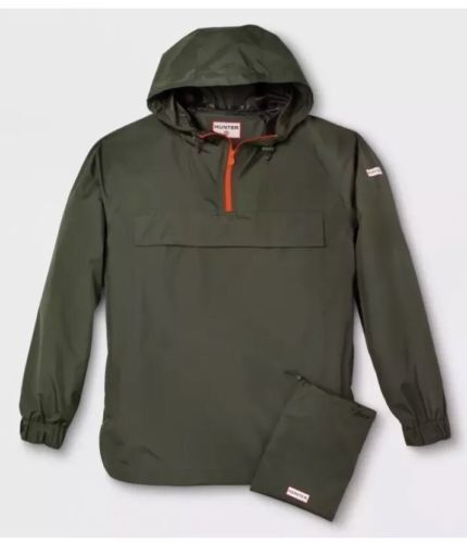 427f21bb4247b Hunter for Target Waterproof Packable Rain Coat Olive Green XXL Mens Jacket  for sale online | eBay