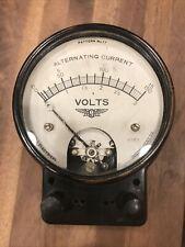 Vintage Jewell Electrical Instrument Co Pattern 77 Alt Current Volt Meter
