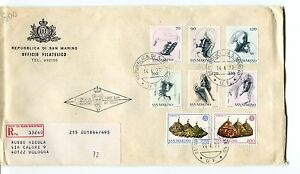 Brillant 1977 Fdc San Marino Virtù Civili Europa Turismo Raccomandata First Day Cover