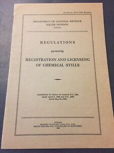 Vintage-1949-Canada-Regulations-Of-Licensing-Of-Chemical-Stills-Old-Paper-E63