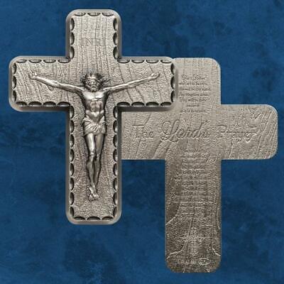 Silbernes Kreuz Crucifix Silber 2 Unzen Antique Finish