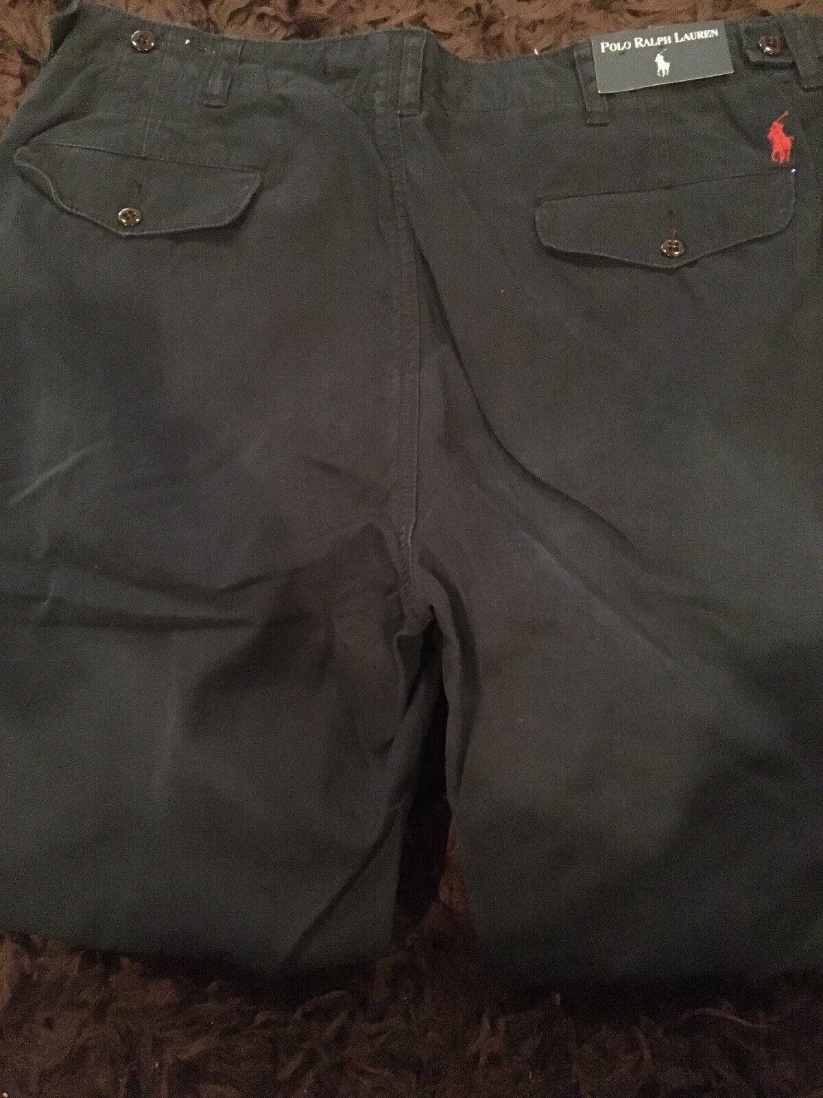 Polo Ralph Lauren Pants Adjustable Waist Men's Pants 38x30 Navy Flat Front NEW