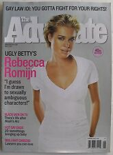 REBECCA ROMIJN May 2007 THE ADVOCATE Magazine BLACK MEN ON TV  HOT GAY DADS