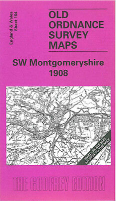 Old Ordnance Survey Map SW Montgomeryshire  Llanidloes /& Plan Y Fan 1908 S164