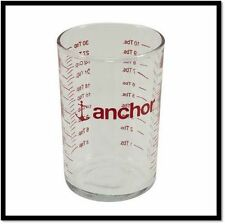 New NWT Anchor Hocking 5 oz Clear Glass Mini Measuring Cup Shot / Jigger Glass