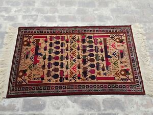 Details About Baluch War Rug Handmade Afghan Trible Shindand
