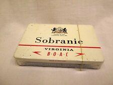 1950's UN-OPENED SEALED Sobranie Virginia Straight Cut cigarette tin RARE !!!!