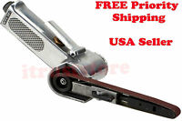 Small Mini Air Operated Power Belt Sander Sanding Grinder File Narrow Width 3/8