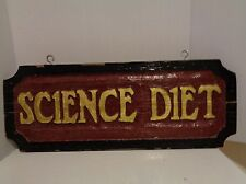 Vtg Science Diet Dog & Cat Food Advertising Storefront Wooden Painted Sign HTF