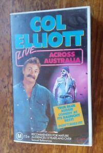COL-ELLIOTT-LIVE-ACROSS-AUSTRALIA-VHS-PAL-VIDEO-A-RARE-FIND