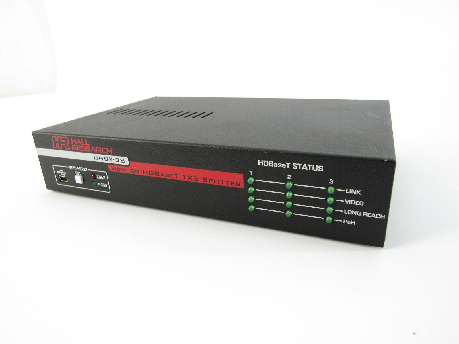 Hall investigación uhbx - 3S 1x3 Hdmi HDBaseT Splitter Splitter Splitter Amplificador 852f65