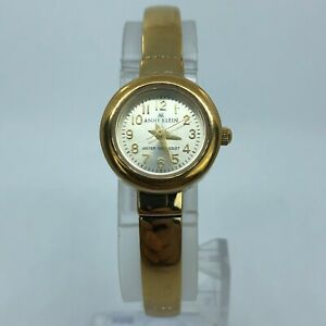 ANNE KLEIN GOLD TONE WOMENS BRACELET WATCH 18mm 10/5132-3