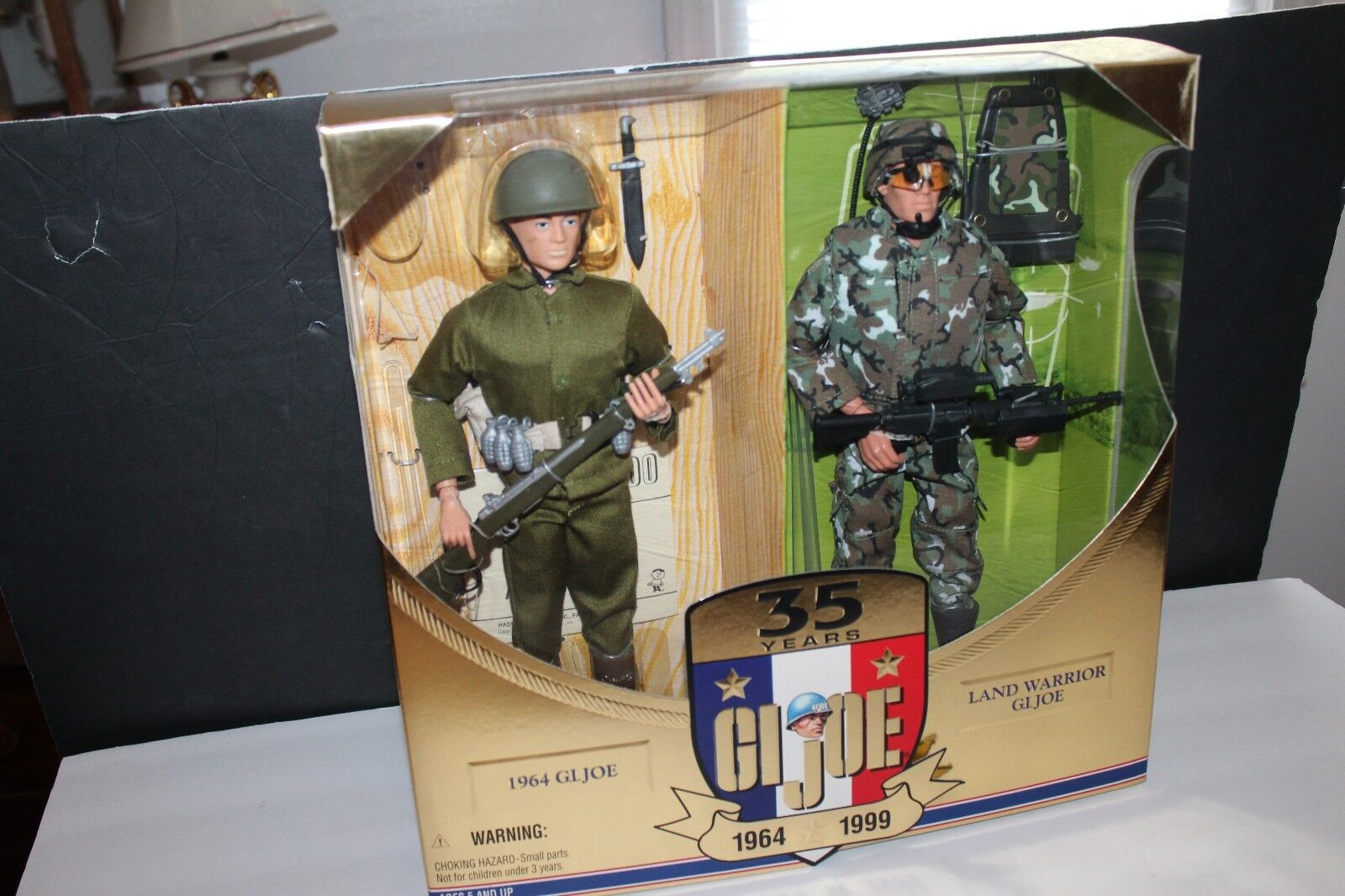 G.I. JOE 35th ANNIV ACTION SOLDIER THEN & NOW SET IN BOX