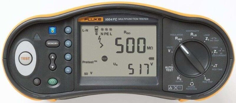 Fluke InsGrößetionstester mit ISO Vorabprüfung Fluke 1664FC DMS DE