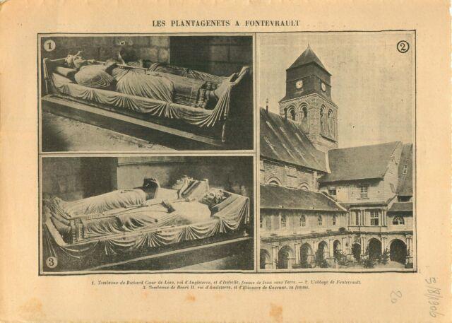Gisant de Richard Cœur de Lion Abbaye de Fontevrault Anjou  1906 ILLUSTRATION