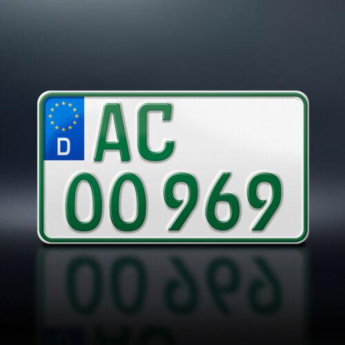 1x Kennzeichen in GRÜN240 x 130 mmTraktorAnhängerSteuerbefreitDHL
