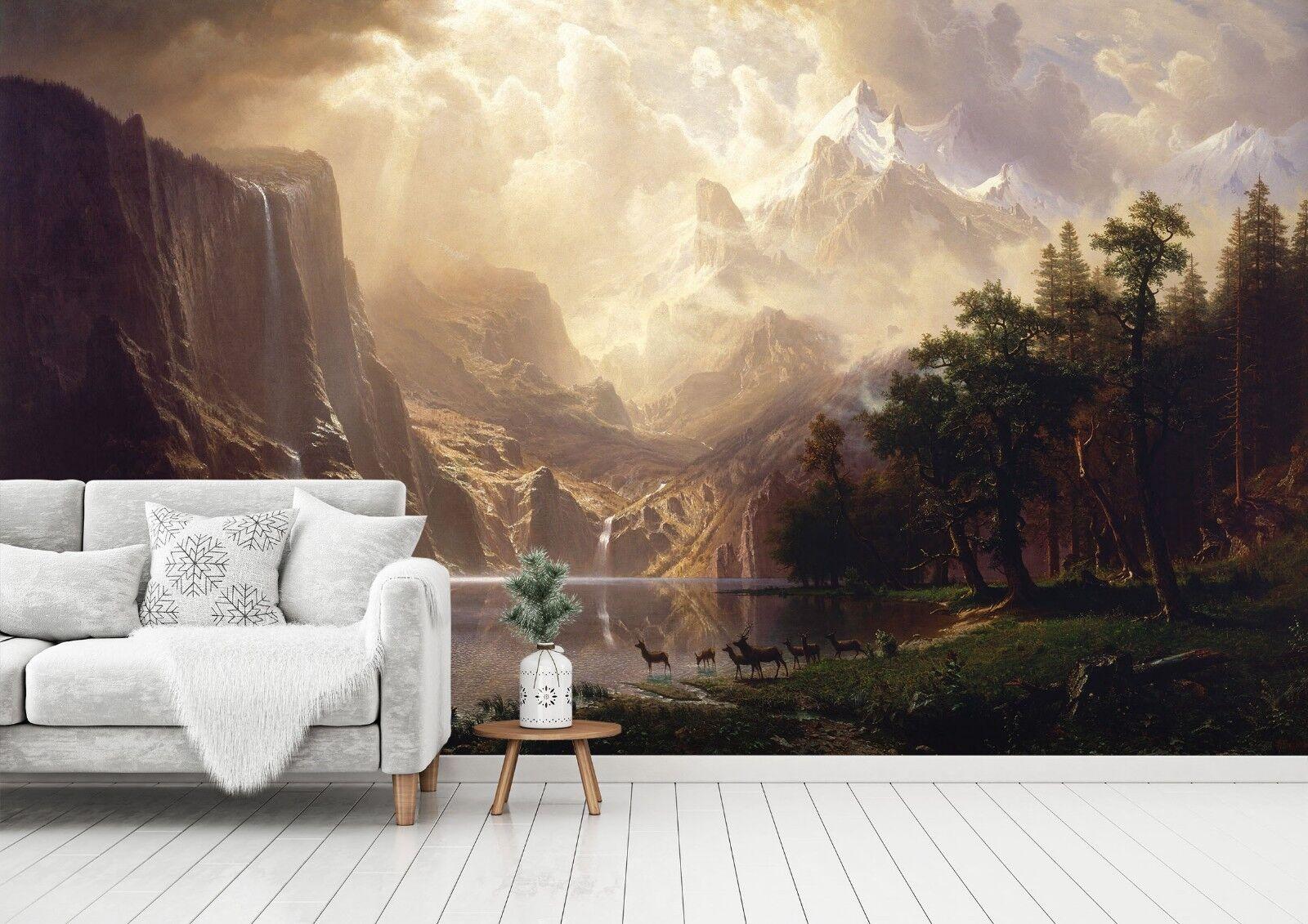 3D Berge Wiese Hirsch 7 Tapete Wandgemälde Wandgemälde Wandgemälde Tapete Tapeten Bild Familie DE Sidney | Die Qualität Und Die Verbraucher Zunächst  | New Product 2019  | Auktion  bc5dac
