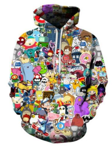 Men/'s //Women/'s Cartoon 3D Print Sweatshirt Hoodies Jogging pants Sport Suit MA04