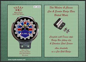 Intelligente Classique Voiture/scooter Badge & Bar Clip Lml Owners Club Grande-bretagne-b1.2856-afficher Le Titre D'origine