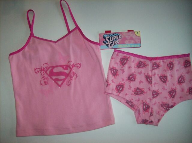 eedfce672b1e Supergirl Camisole & Panty Girls Size Small 2pc Cami/Boyleg Set Butterfly  NIP