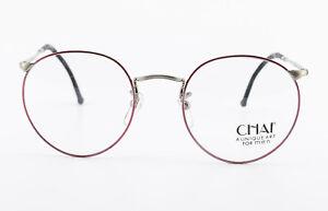 CHAI-Brille-No-8-Panto-FT82-1191-48-21-140-Vintage-Eyeglasses-Frame-Men-Blue