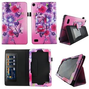 Pikish-Butterfly-Fit-for-Kindle-Fire-7-inch-2015-Tablet-Case-Cover-ID-Slot