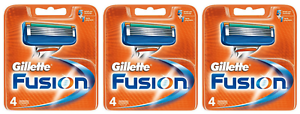 Gillette-Fusion-Manual-Men-039-s-Razor-Blade-Refill-Cartridges-4-Count-Pack-of-3
