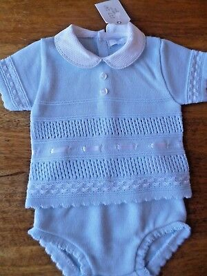 JAM PANTS  0//3 3//6 6//9  MONTHS BNWT FINE KNITTED PORTUGESE BLUE TOP