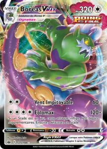 Pokemon Regne de Glace EB06 VF 125/198 Boréas-VMAX Holo VMAX Epee et Bouclier