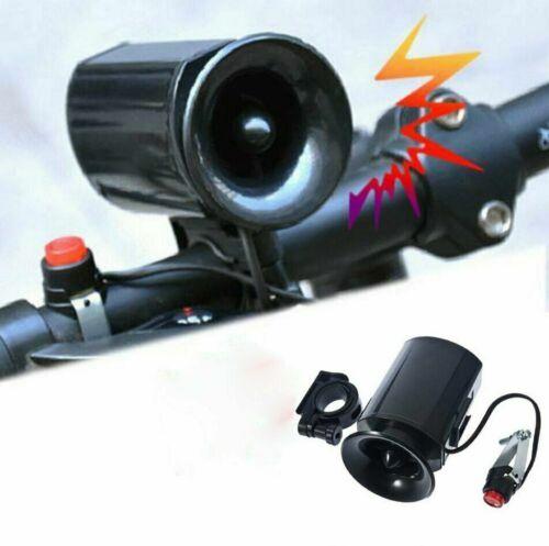 65dB Ultra-loud Speaker Black Electronic Bicycle 6 Sounds Bell Bike Siren Horn