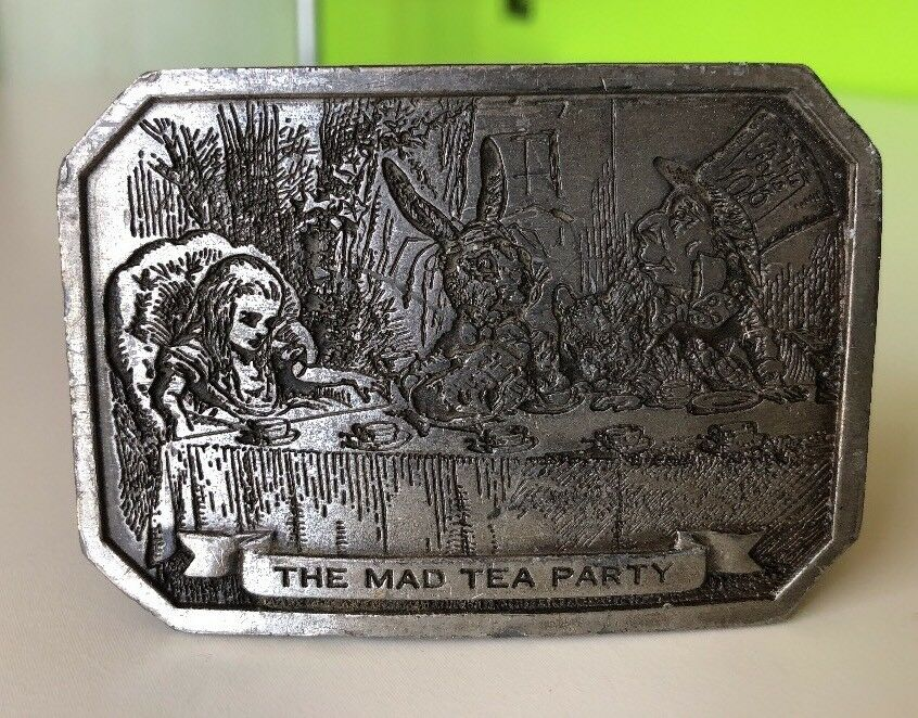 The Mad Hatter Belt Buckle Fantasy Themed Authentic Dragon Designs Product