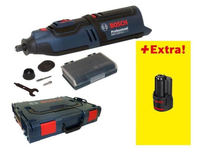 Bosch Akkumultirotationswerkzeug GRO 10,8 V-LI Rotationswerkzeug + 10,8 V 2,0