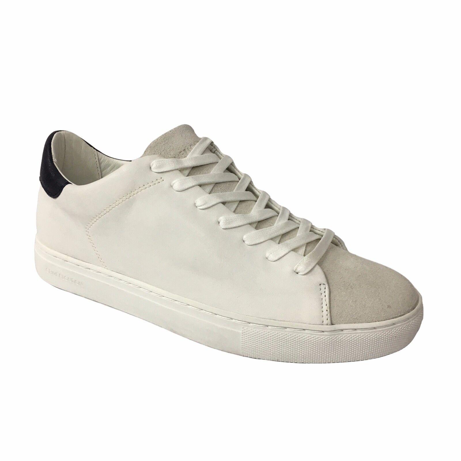 CRIME LONDON Herren Schuhe weiß Einzelheiten blau Leder / Gämse art. 11209S17B