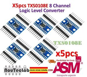 5pcs Txs0108e 8 Channel Logic Level Converter Ttl 3.3v 5v Bi-directional Convert