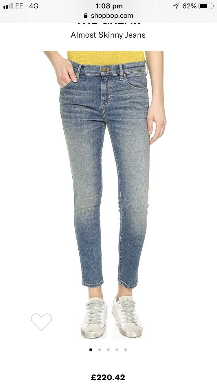 The Great 'Almost Skinny' Jeans in Size 27